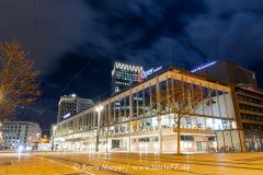 Die Oper Frankfurt bei Nacht