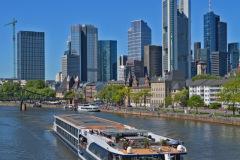 Skyline of the city of Frankfurt on Main Germany