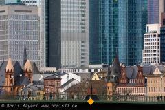 Alte und neue Architektur in Frankfurt am Main