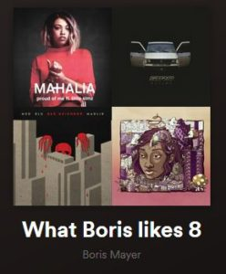 Spotify Playlist - What Boris Likes 08