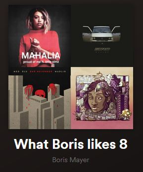 """What Boris Likes #08"" Playlist auf Spotify"