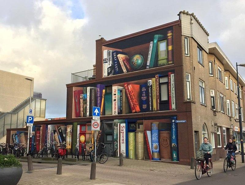 Streetart von Jan Is De Man und Deef Feed in Utrecht.