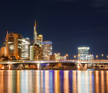 Frankfurt am Main bei Nacht